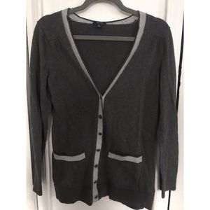 Dark and light grey cardigan
